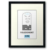 Voledemort Card Framed Print