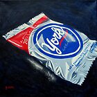 Peppermint Pattie painting by Pamela Burger