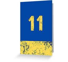 Vault 11 - Classic Blue Greeting Card