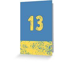Vault 13 - Light Blue Greeting Card