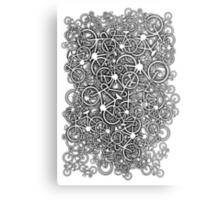 Tangled Up In Bicycles Metal Print