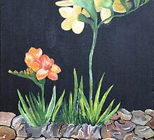 Sweet Freesias - by kathyduronio