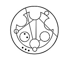"""""""Bowties are Cool"""" Translated into Gallifreyan Photographic Print"""