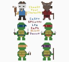 teenage mutant pixel turtles by atumatik