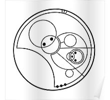"""Allons-y!"" Translated into Gallifreyan Poster"