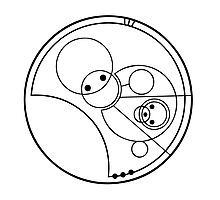 """""""Allons-y!"""" Translated into Gallifreyan Photographic Print"""