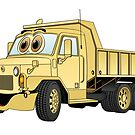 Military Dump Truck Cartoon Sand by Graphxpro