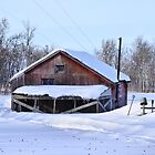Old Winter Barn by Steph Peesker