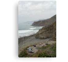 big sur coast carpark Canvas Print