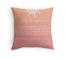 Affirmation - Self-Acceptance Throw Pillow