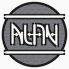 Alan ambigram by black-ink