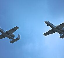 A-10 flight with wingman  by Jesse Diaz