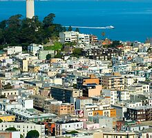 Coit Tower and downtown by photoeverywhere