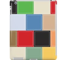 background of colorful square boxes iPad Case/Skin