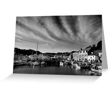 Padstow Skies in Black and White Greeting Card