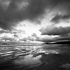 Harlyn Bay in Black and White by Samantha Higgs