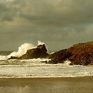 Surf Splash - Trevone Bay - Cornwall by Samantha Higgs