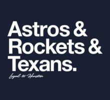 Loyal to Houston (White Print) Kids Clothes