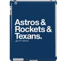 Loyal to Houston (White Print) iPad Case/Skin