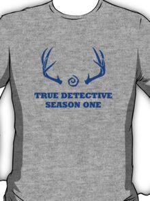 True Detective - Season One Antlers - Blue T-Shirt
