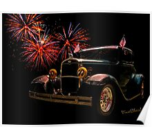 31 Five Window Coupe on the Fourth of July Poster