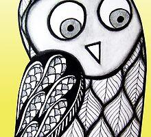 Yellow Owl by AlyssaKayArt