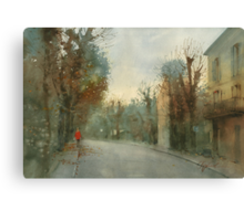 A little optimism in autumn evening Canvas Print
