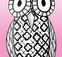 Pink Owl by AlyssaKayArt