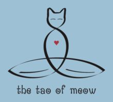 "Stylized Cat Meditator with ""The Tao of Meow"" in fancy text by Mindful-Designs"