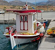 Greek fishing Boat by John (Mike)  Dobson