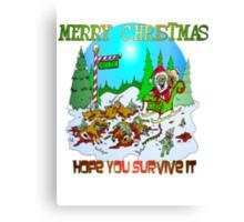 Santas killings Canvas Print