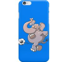 Cool elephant executing a stunt with a soccer ball  iPhone Case/Skin