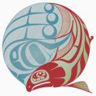 Circling Salmon by Spirit-Ink