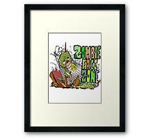 Zombie Free Zone Framed Print