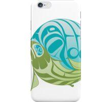 Warm circle salmon iPhone Case/Skin