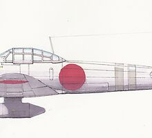 Japanese Warplane by matthewsart