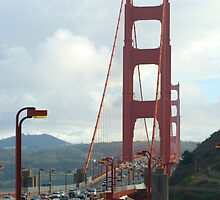 golden gate end view by photoeverywhere