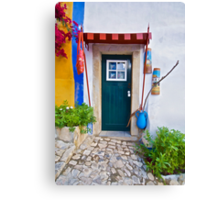 Colorful Wood Door of Portugal Canvas Print
