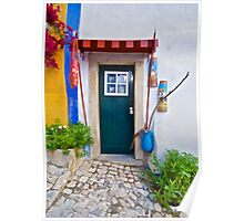 Colorful Wood Door of Portugal Poster