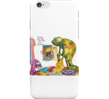 Chameleon in a changing room! iPhone Case/Skin