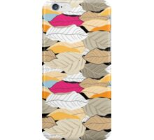 pattern of autumn leaves iPhone Case/Skin