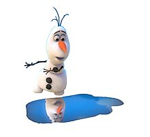 Olaf Frozen Puddle Photographic Print