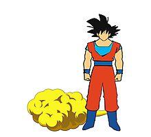 Goku and his cloud fanart Photographic Print
