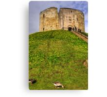 York Castle Keep Canvas Print