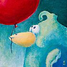 Bird with a red balloon by Ziarel