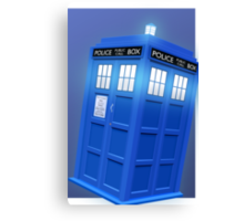 Doctor Who TARDIS Phone Case Canvas Print