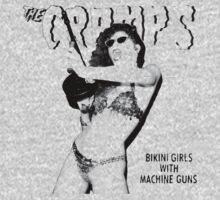 Bikini girls with machine guns (transparent body) - the Cramps by evaparaiso