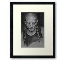 Portrait of Willie Nelson Framed Print