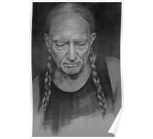 Portrait of Willie Nelson Poster