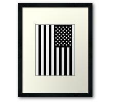 US Flag B&W Framed Print